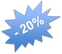 Réduction 20 pourcents