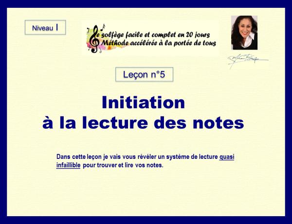 Leçon n°5