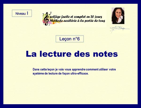 Leçon n°6